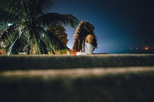 Kay Fochtmann - Rio de Janeiro - Palme - Nacht - night - hair - Frau - lifestyle photography
