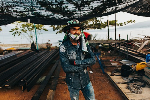 Kay Fochtmann - Thailand - construction - worker - portrait - travel photography