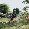 Kay Fochtmann - hammock - father - son - family - lifestyle photography