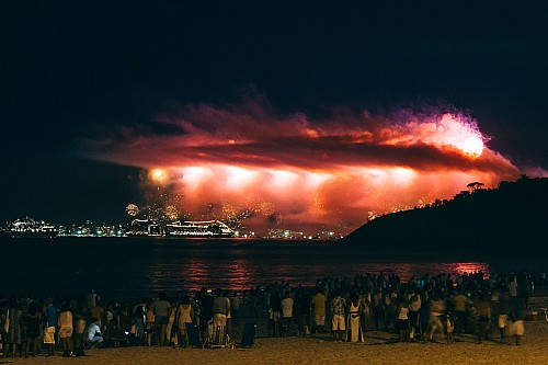 Kay Fochtmann - Brasilien - Piratininga - sunset - beach - new years - fireworks - Travel